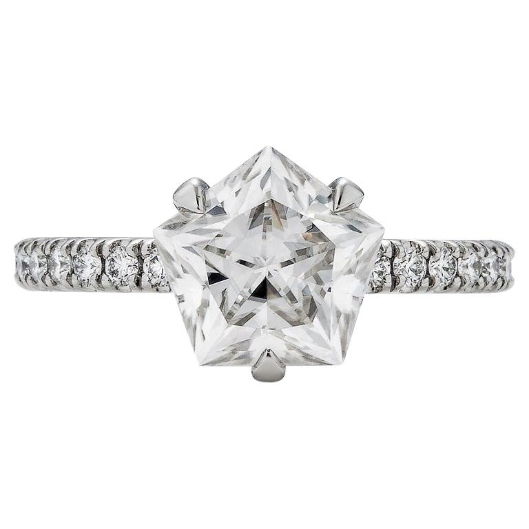 Brevard Customizable Star Engagement Ring For Sale