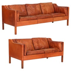 "Børge Mogensen, 2212 & 2213, ""Embassy"", a Pair of Sofas, 1960s"
