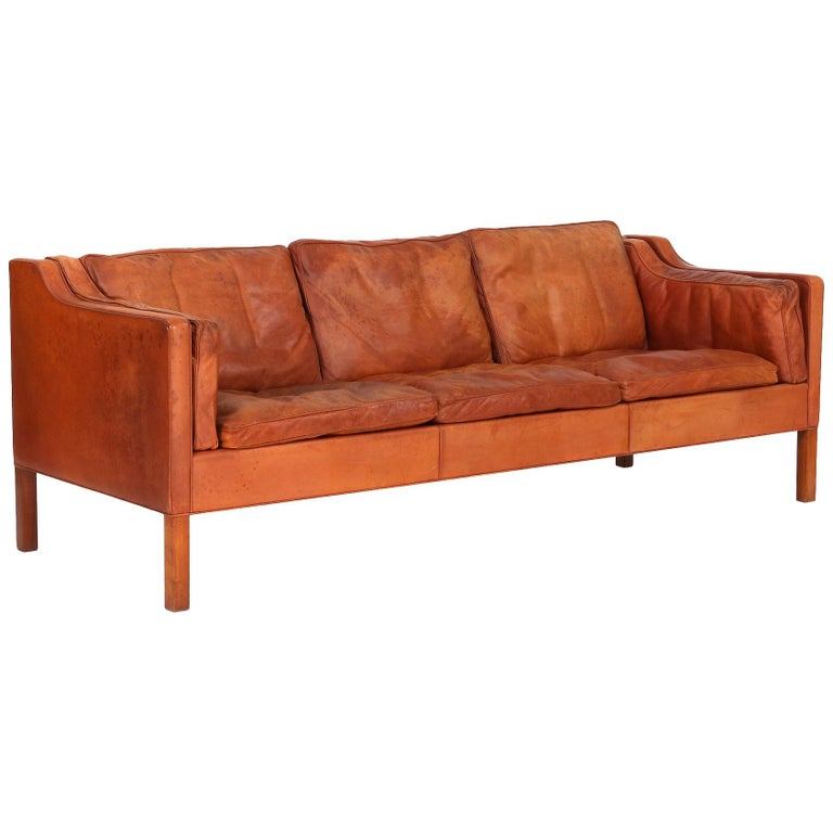 """Børge Mogensen, 2213, """"Embassy"""", a Large Three-Seat Sofa, 1960s For Sale"""