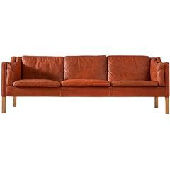 Børge Mogensen 2213 Sofa in Cognac Leather