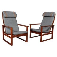 Børge Mogensen 2254 Mahogany Sled Chair, 1956, Denmark