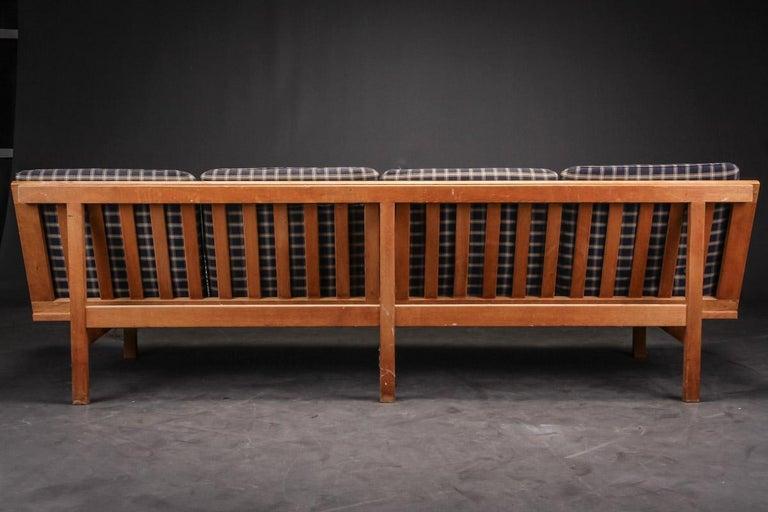 Oak Børge Mogensen 4-Persons, Sofa, Modell BM 2219, Couchbank BM2219, Midcentury For Sale