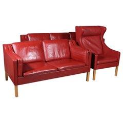 Børge Mogensen a Living Room, Model 2212 + 2213 + 2204, Original Leather
