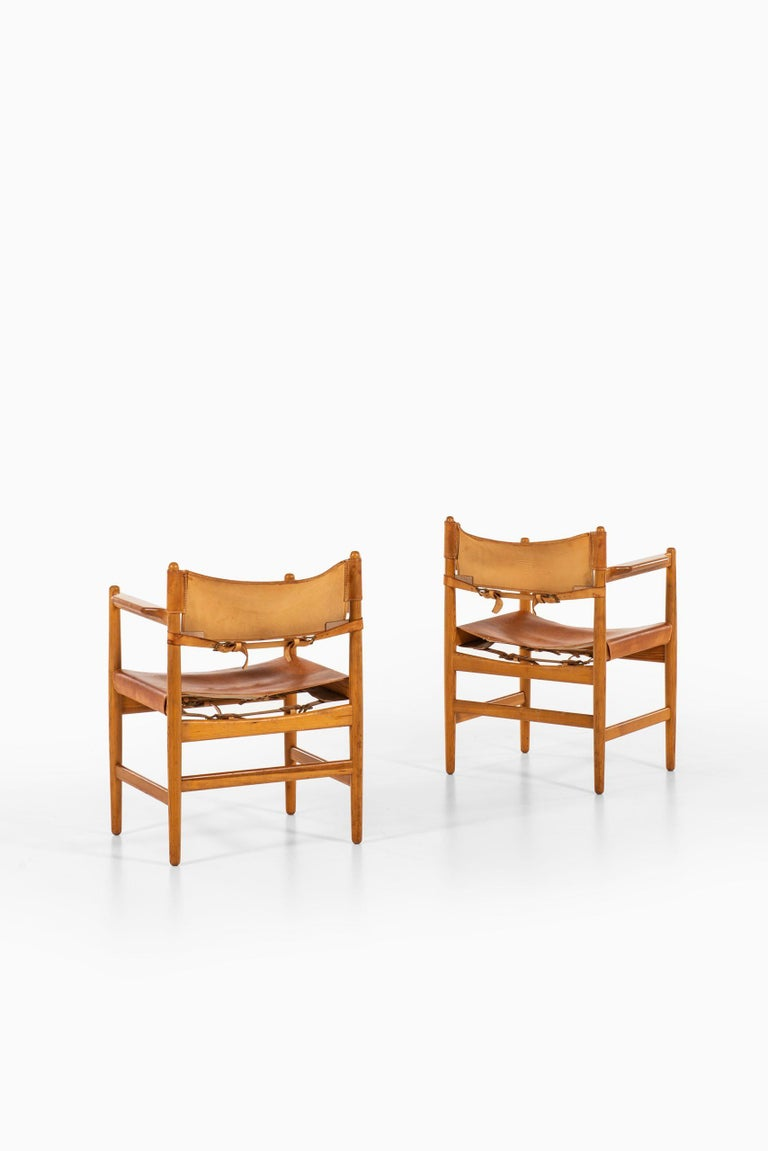 Børge Mogensen Armchairs / Chairs Produced by Svensk Fur in Sweden For Sale 4