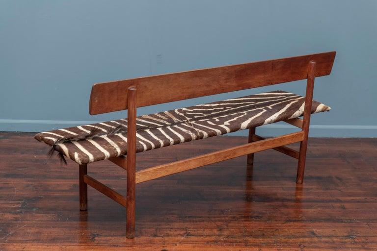 Upholstery Børge Mogensen Bench Model 3171 for Fredericia Møbelfabrik, Denmark, circa 1960 For Sale
