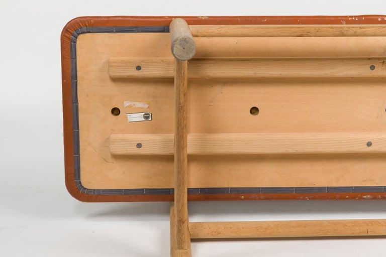 Børge Mogensen Bench Model 3171 for Fredericia Møbelfabrik Seat Leather For Sale 3