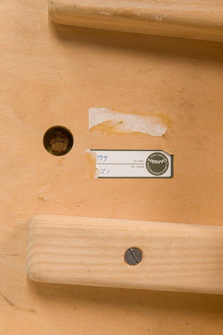 Børge Mogensen Bench Model 3171 for Fredericia Møbelfabrik Seat Leather For Sale 4