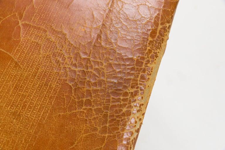 Oak Børge Mogensen Bench Model 3171 for Fredericia Møbelfabrik Seat Leather For Sale