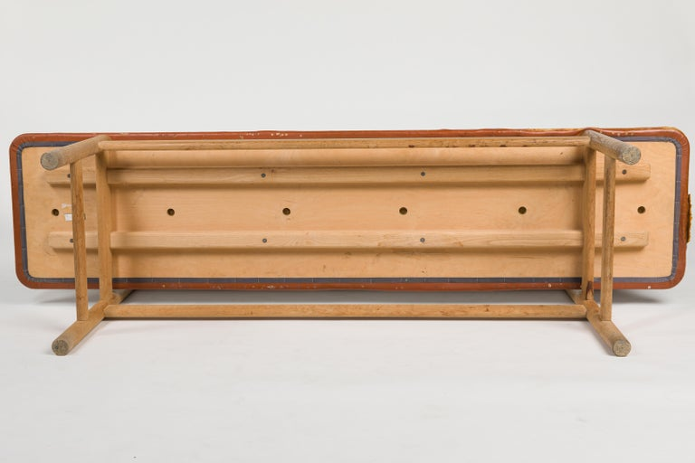Børge Mogensen Bench Model 3171 for Fredericia Møbelfabrik Seat Leather For Sale 2