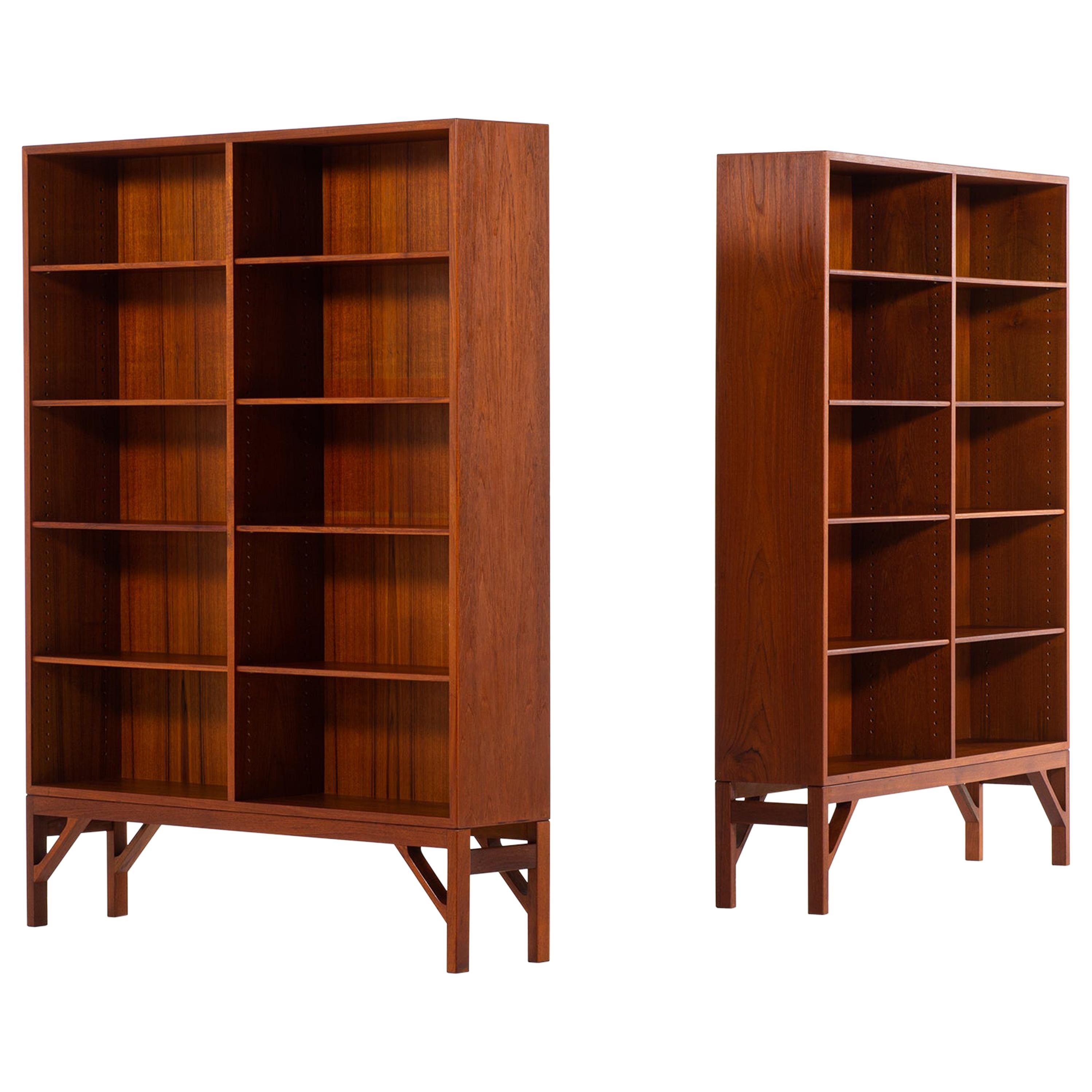 Børge Mogensen Bookcases Produced by C.M. Madsen in Denmark