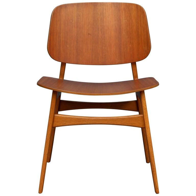 Børge Mogensen Chair for Søborg Møbelfabrik For Sale