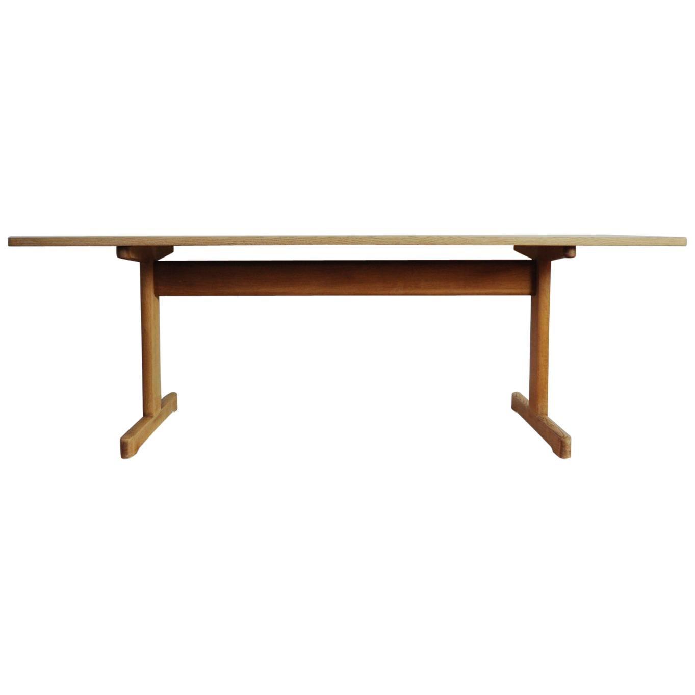 Børge Mogensen Coffee Table in Solid Oak for C.M. Madsens Fabrik, 1960s