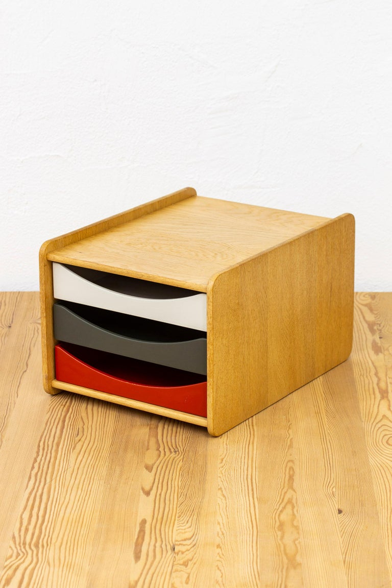Børge Mogensen Desk Organizer, Karl Andersson & Söner, Sweden, 1950s In Good Condition For Sale In Stockholm, SE