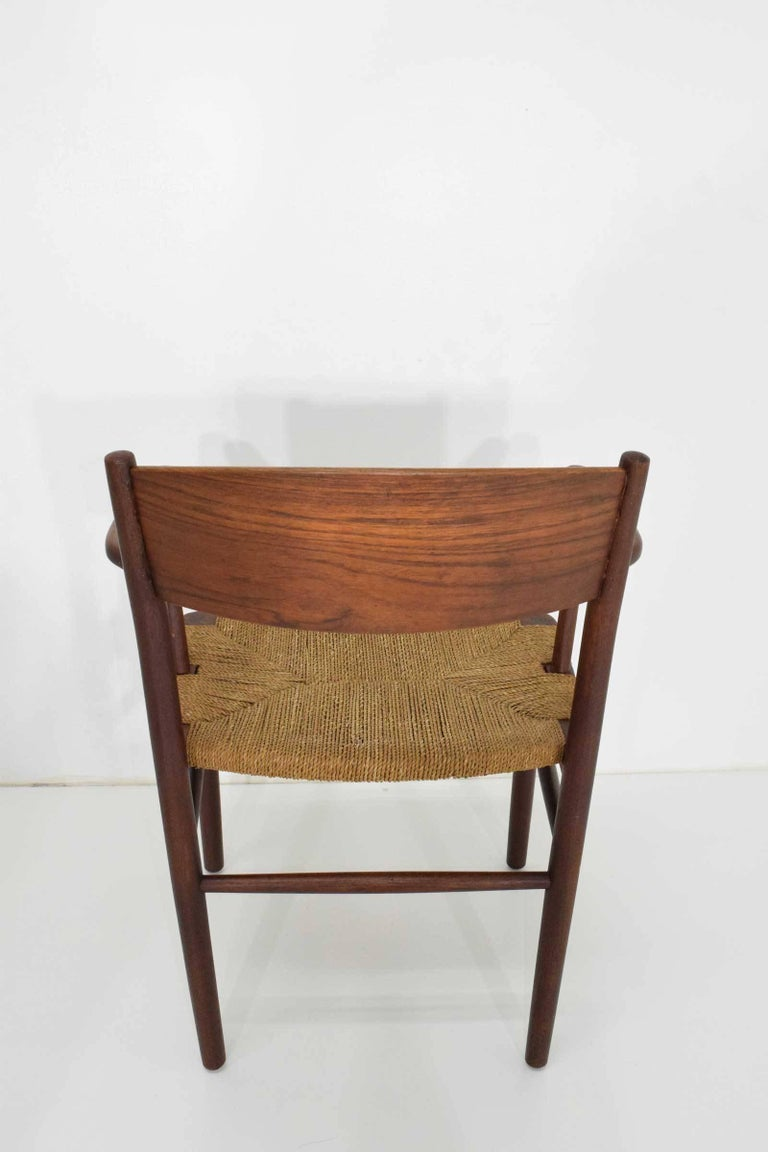 20th Century Børge Mogensen Dining Chairs by Søborg Møbelfabrik in Denmark For Sale