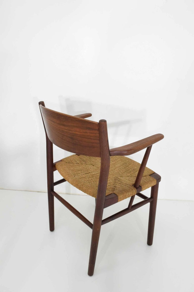 Seagrass Børge Mogensen Dining Chairs by Søborg Møbelfabrik in Denmark For Sale