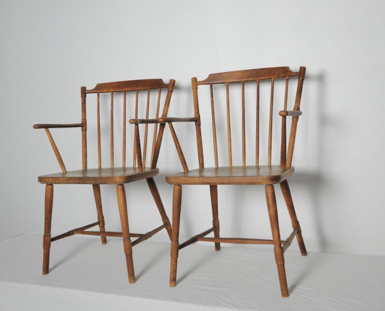 Børge Mogensen Dining Chairs for FDB Møbler 1940s, Set of 8 For Sale 3