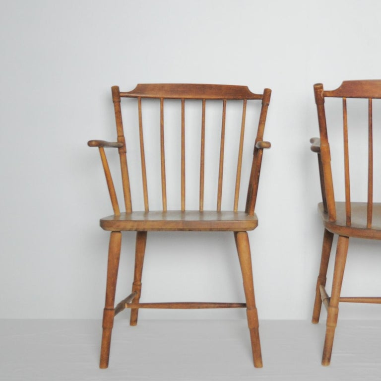 Børge Mogensen Dining Chairs for FDB Møbler 1940s, Set of 8 For Sale 5