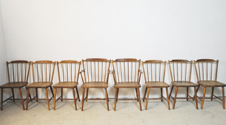 Børge Mogensen Dining Chairs for FDB Møbler 1940s, Set of 8 For Sale 8