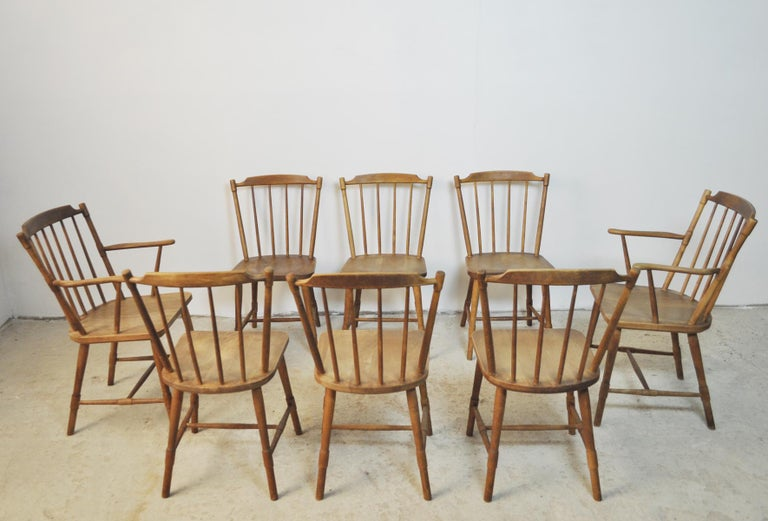 Børge Mogensen Dining Chairs for FDB Møbler 1940s, Set of 8 For Sale 9