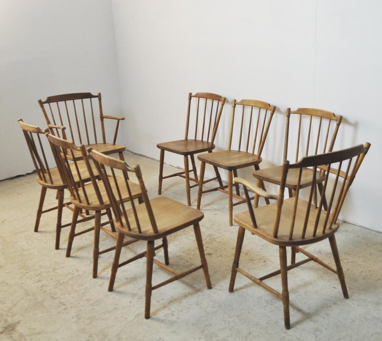 Børge Mogensen Dining Chairs for FDB Møbler 1940s, Set of 8 For Sale 10