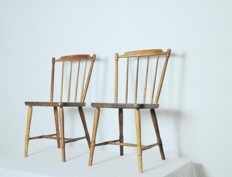 Danish Børge Mogensen Dining Chairs for FDB Møbler 1940s, Set of 8 For Sale