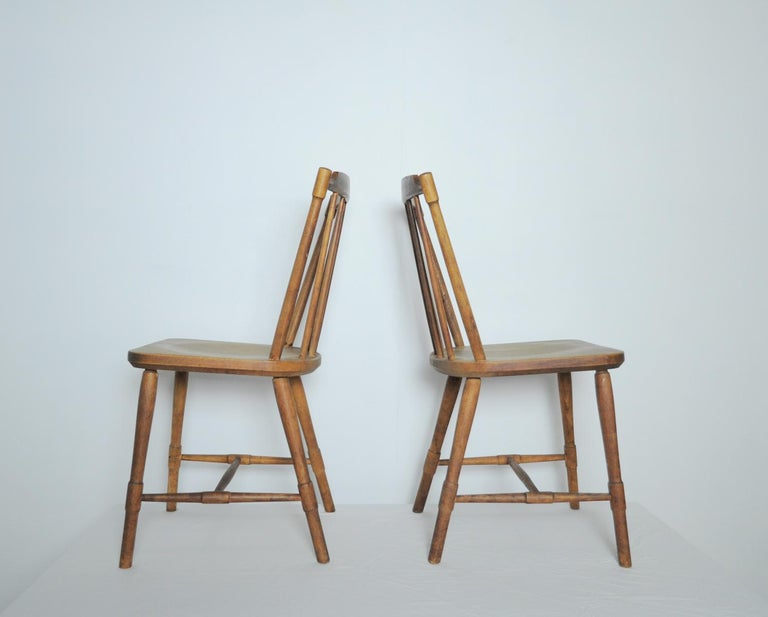 Beech Børge Mogensen Dining Chairs for FDB Møbler 1940s, Set of 8 For Sale