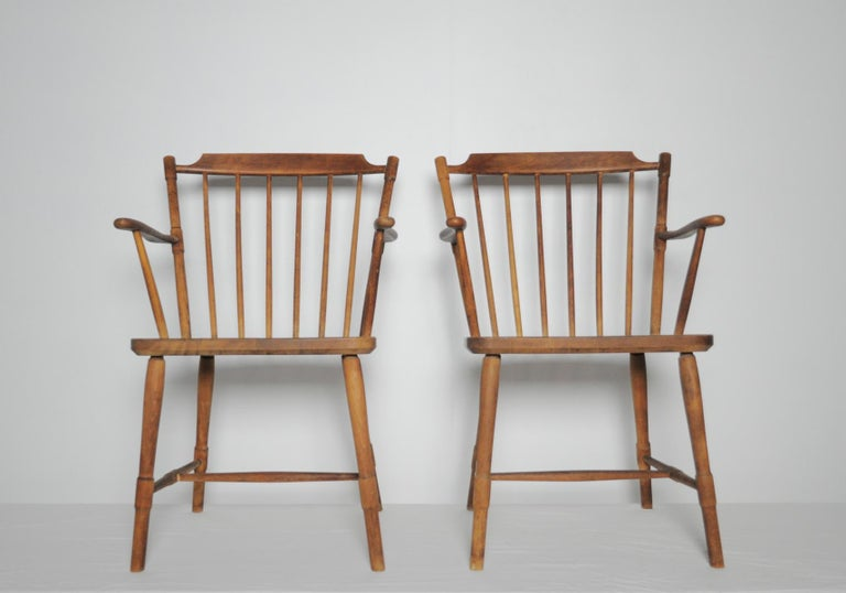 Børge Mogensen Dining Chairs for FDB Møbler 1940s, Set of 8 For Sale 2