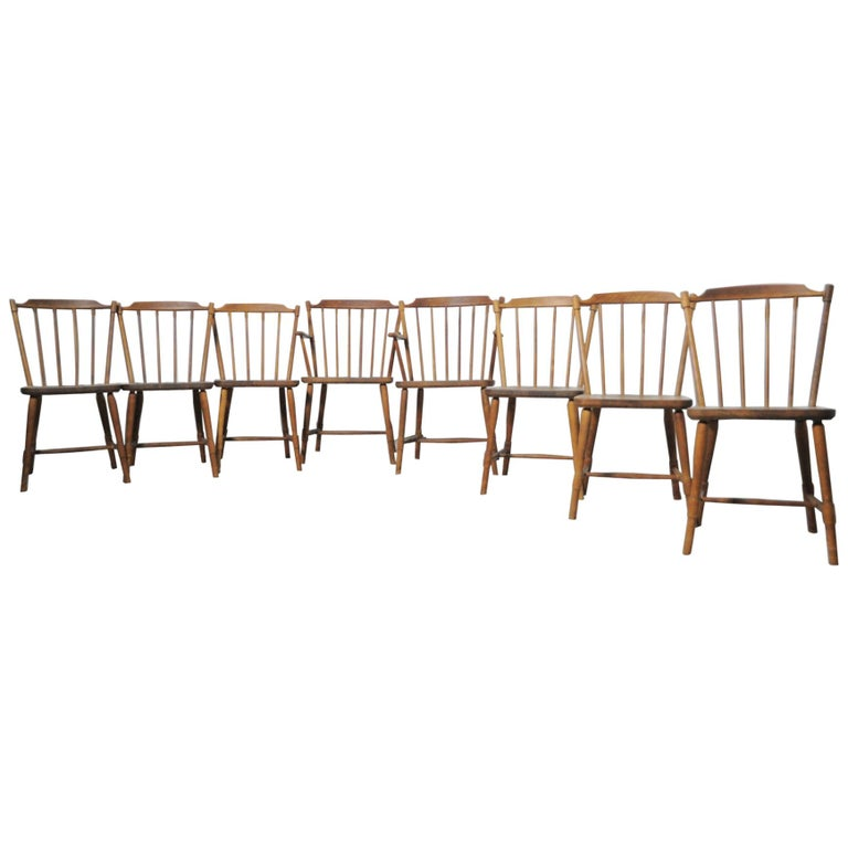 Børge Mogensen Dining Chairs for FDB Møbler 1940s, Set of 8 For Sale