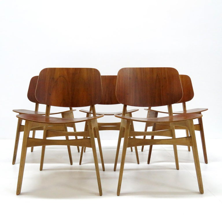 Børge Mogensen Dining Chairs, Model 122, 1950 For Sale 3