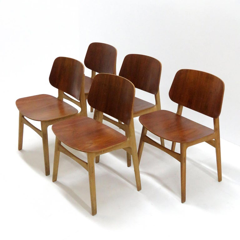 Børge Mogensen Dining Chairs, Model 122, 1950 For Sale 4