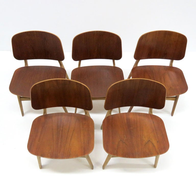 Børge Mogensen Dining Chairs, Model 122, 1950 For Sale 5