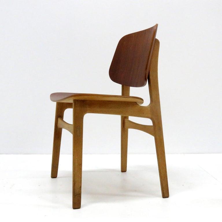 Scandinavian Modern Børge Mogensen Dining Chairs, Model 122, 1950 For Sale