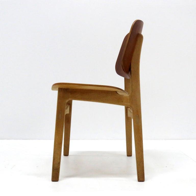 Danish Børge Mogensen Dining Chairs, Model 122, 1950 For Sale