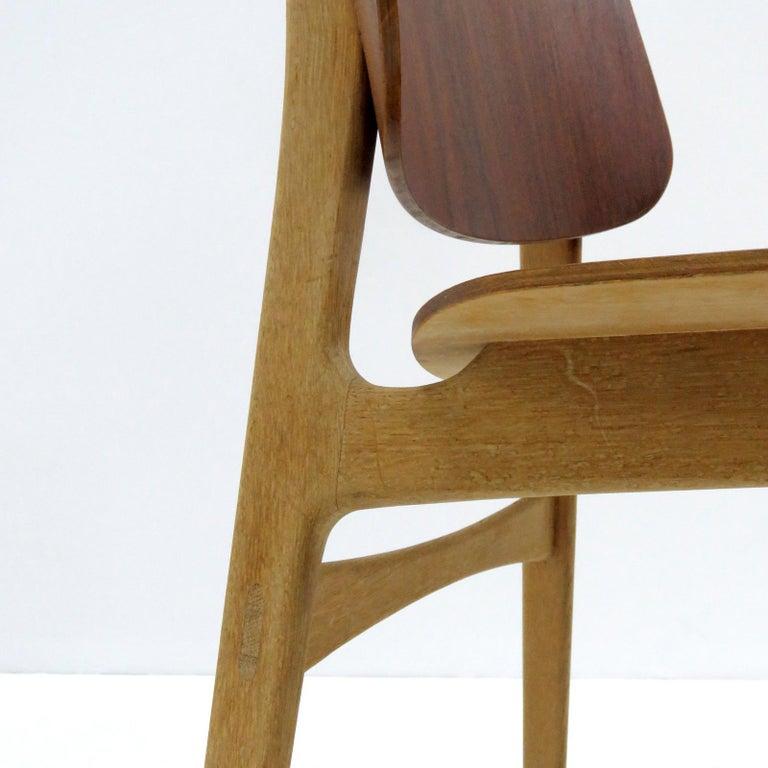 Beech Børge Mogensen Dining Chairs, Model 122, 1950 For Sale