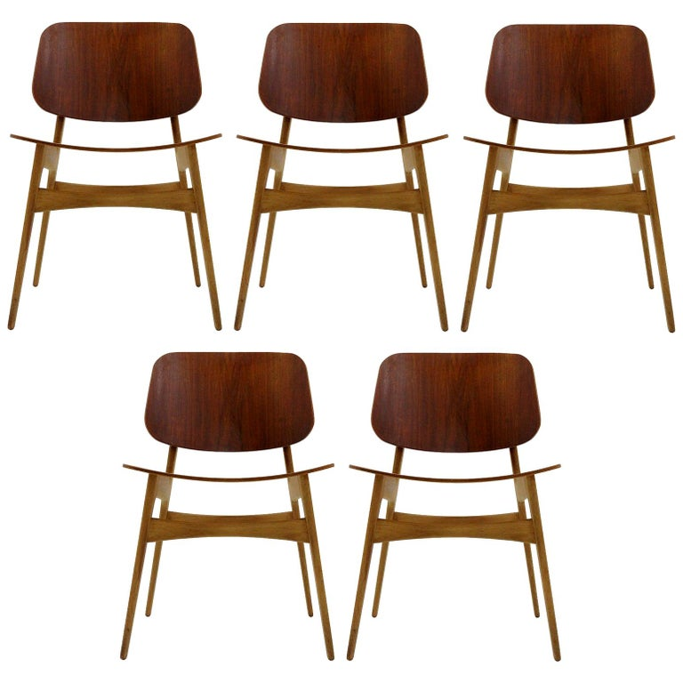 Børge Mogensen Dining Chairs, Model 122, 1950 For Sale