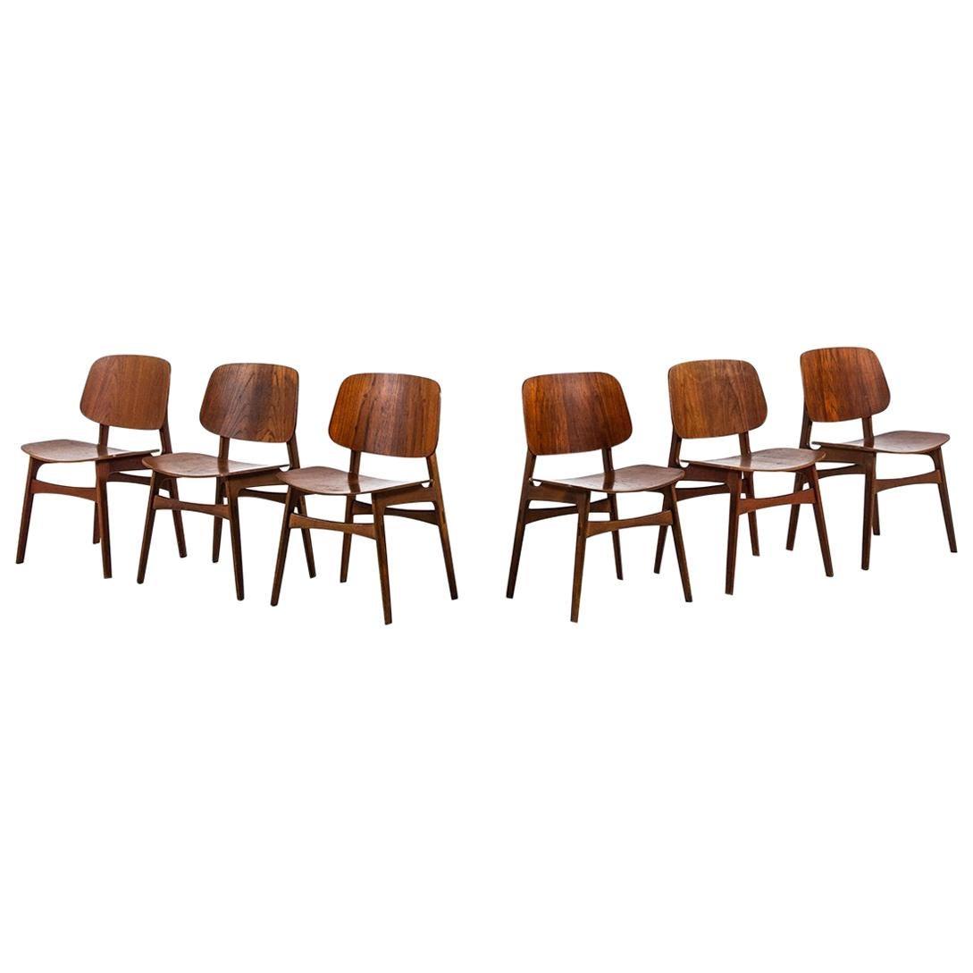 Børge Mogensen Dining Chairs Model 122 / Shell Chair by Søborg Møbler in Denmark