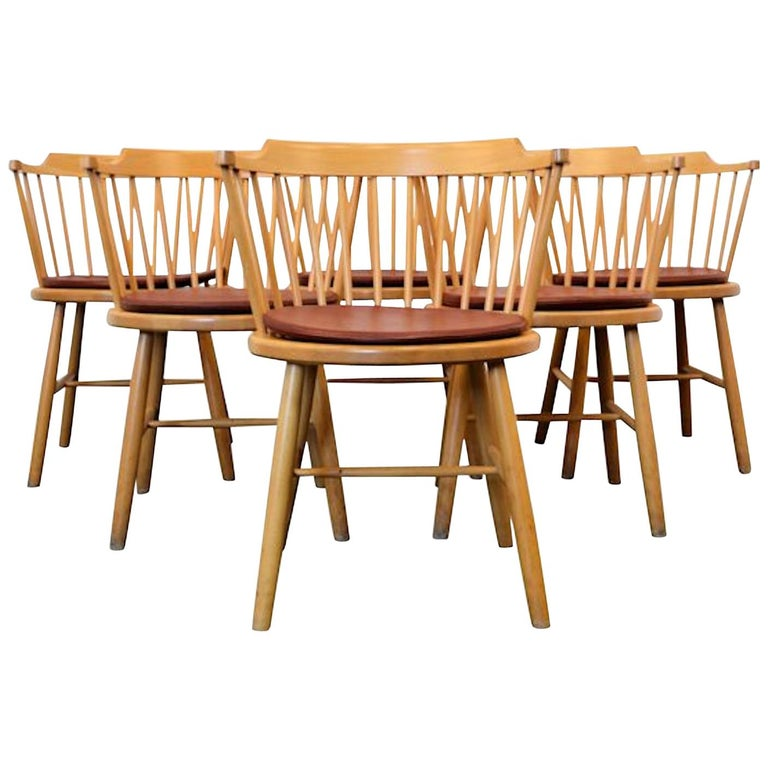 Børge Mogensen Dining Chairs, Model 3249, Set of Six For Sale