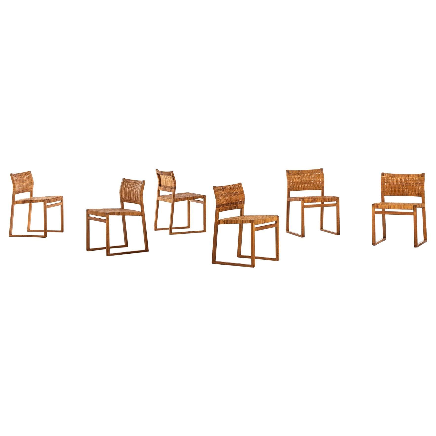 Børge Mogensen Dining Chairs Model Bm-61 by Fredericia Stolefabrik in Denmark