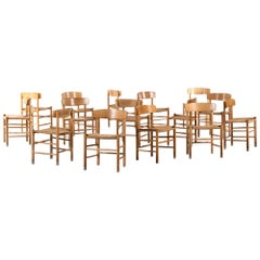 Børge Mogensen Dining Chairs Model J39 by FDB Møbler in Denmark