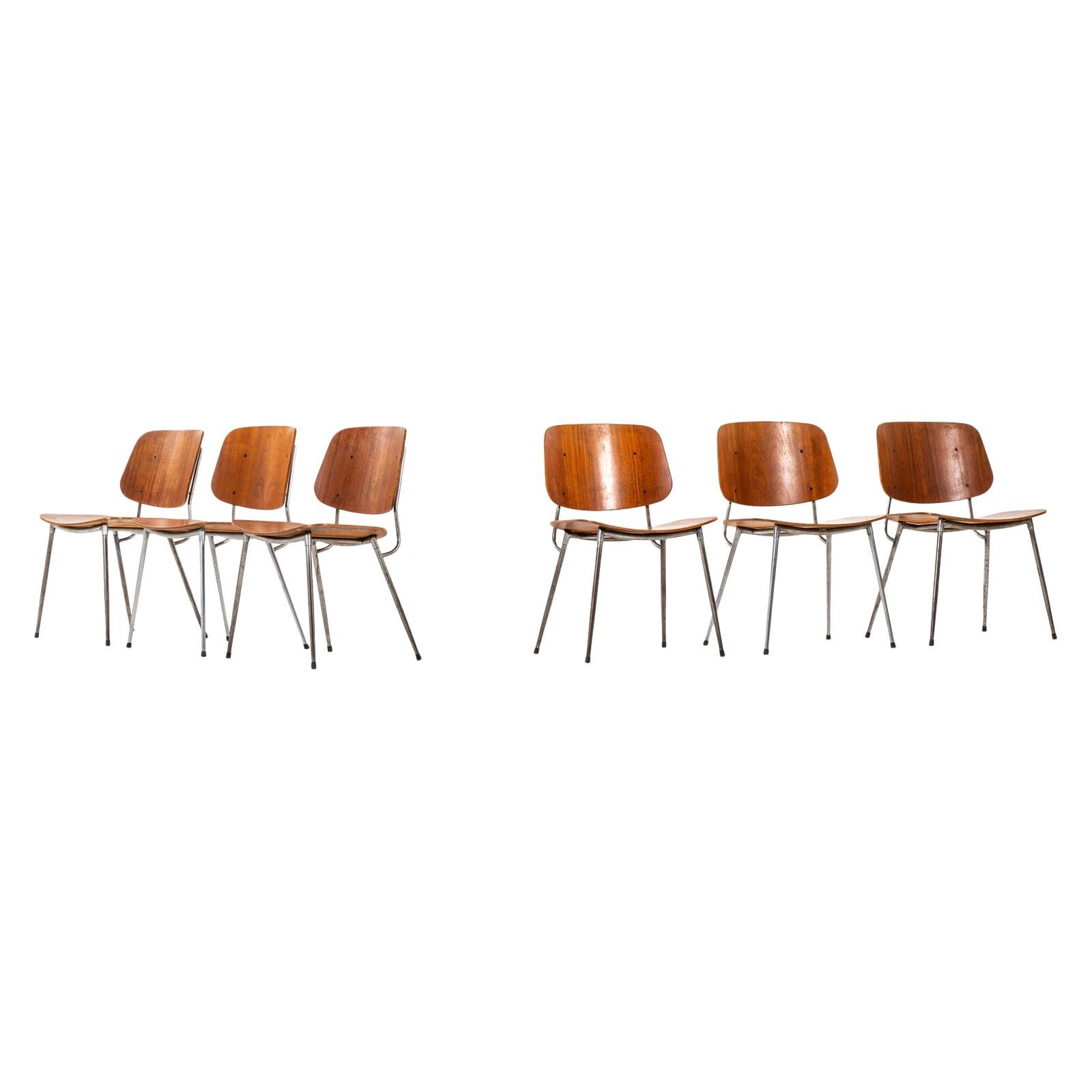 Børge Mogensen Dining Chairs Produced by Søborg Møbler in Denmark