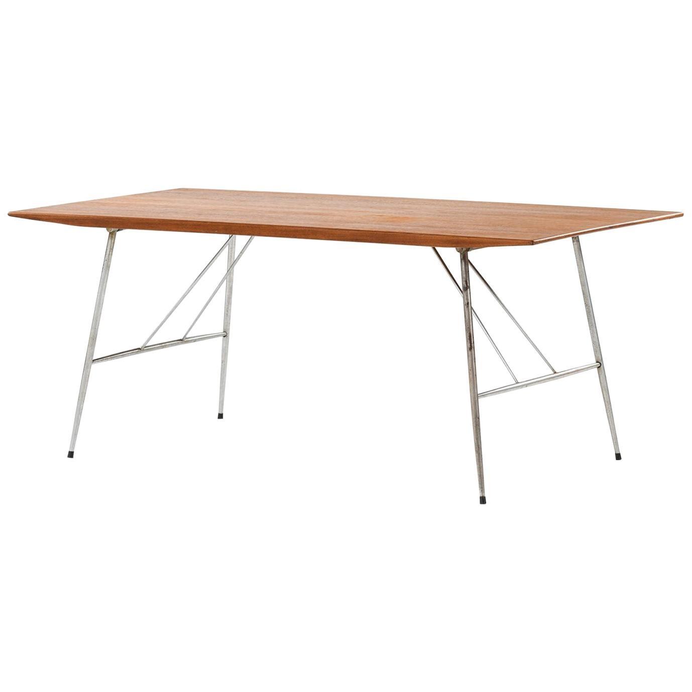Børge Mogensen Dining Table / Desk Produced by Søborg Møbler in Denmark