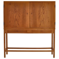 "Børge Mogensen ""FDB"" Cabinet in Elm and Pinewood, 1940s Danish Modern"