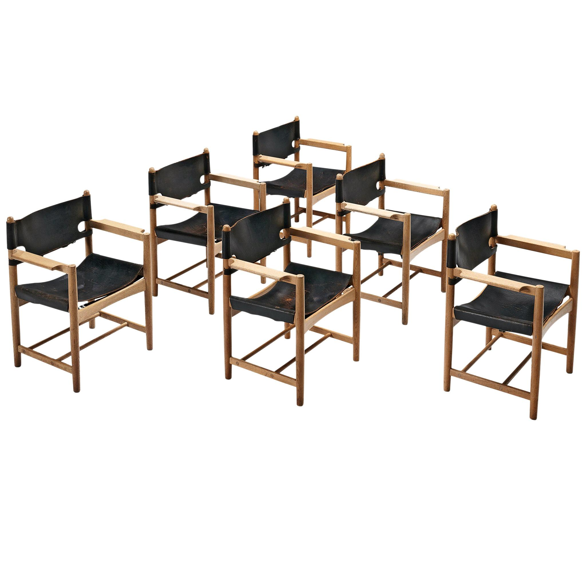Børge Mogensen for Fredericia Stolefabrik Set of 'Spanish Dining Chairs'