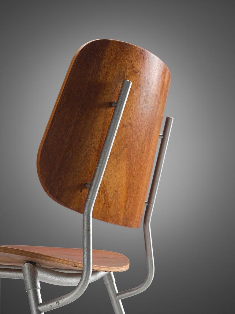Mid-Century Modern Børge Mogensen for Søborg Møbelfabrik Set of 4 Dining Chairs 201 in Teak For Sale