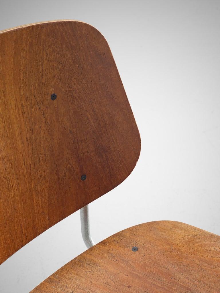 Børge Mogensen for Søborg Møbelfabrik Set of 4 Dining Chairs 201 in Teak In Good Condition For Sale In Waalwijk, NL