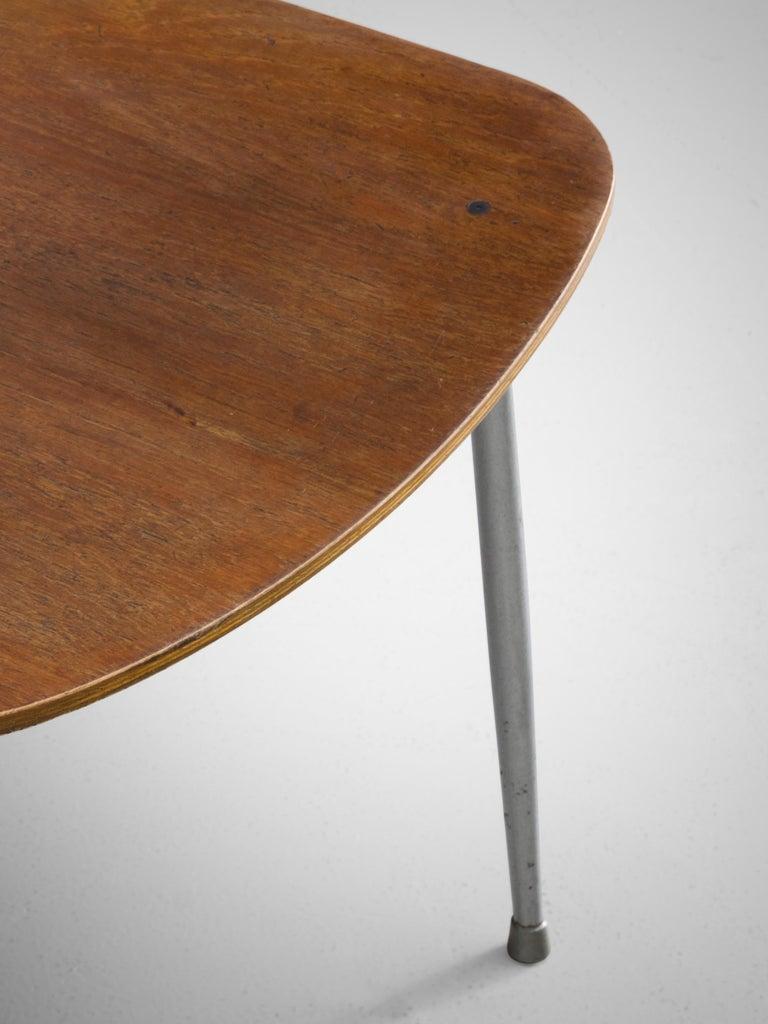 Steel Børge Mogensen for Søborg Møbelfabrik Set of 4 Dining Chairs 201 in Teak For Sale