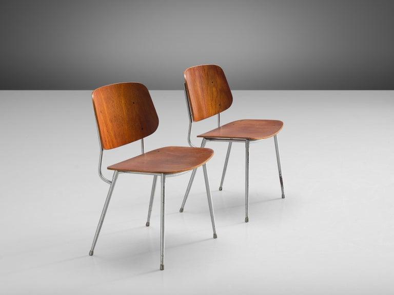 Børge Mogensen for Søborg Møbelfabrik Set of 4 Dining Chairs 201 in Teak For Sale 1