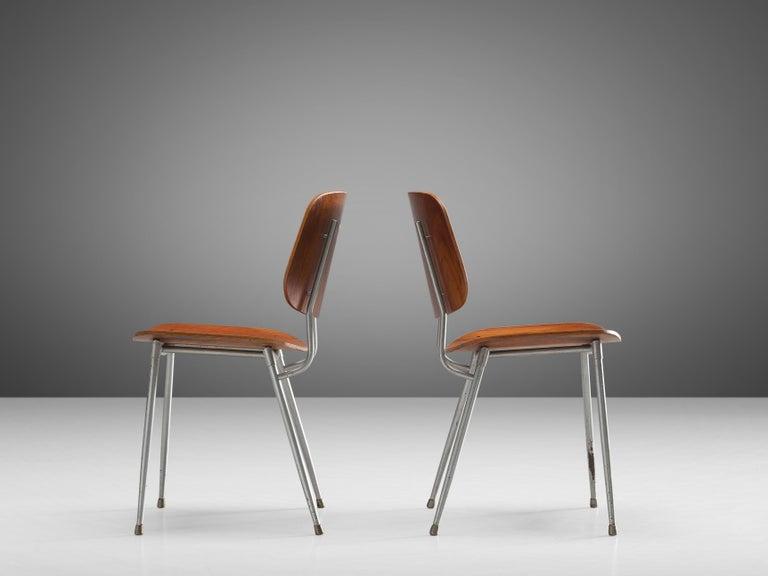 Børge Mogensen for Søborg Møbelfabrik Set of 4 Dining Chairs 201 in Teak For Sale 2