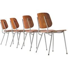 Børge Mogensen for Søborg Møbelfabrik Set of 4 Dining Chairs 201 in Teak