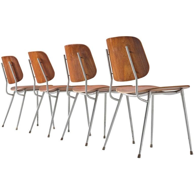 Børge Mogensen for Søborg Møbelfabrik Set of 4 Dining Chairs 201 in Teak For Sale